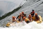 White-water rafting in Zambia